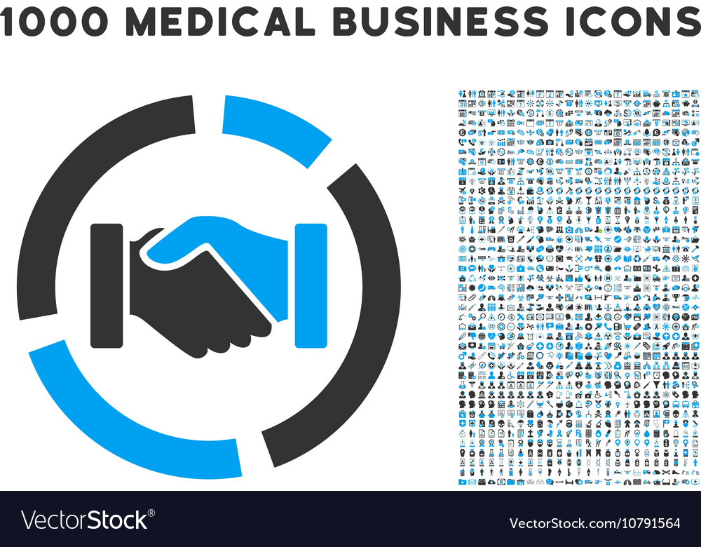 Handshake Diagram Icon With 1000 Medical Business Vector Image On Vectorstock