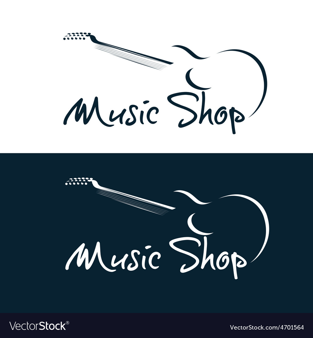 Set music shop emblems