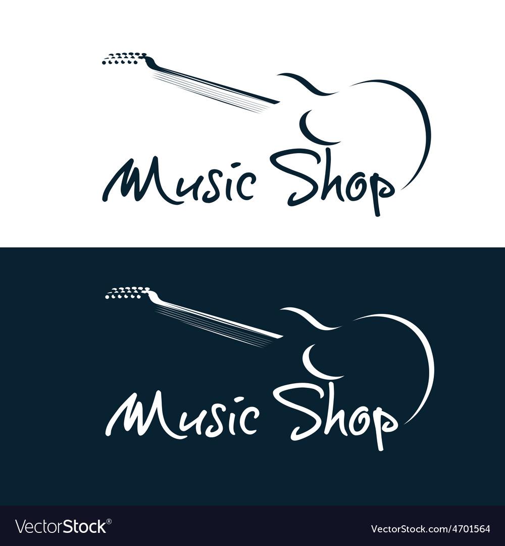 Set of music shop emblems