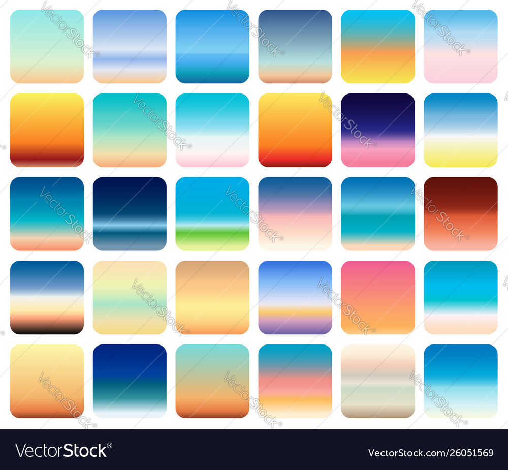 30 sunset sky gradients backgrounds set