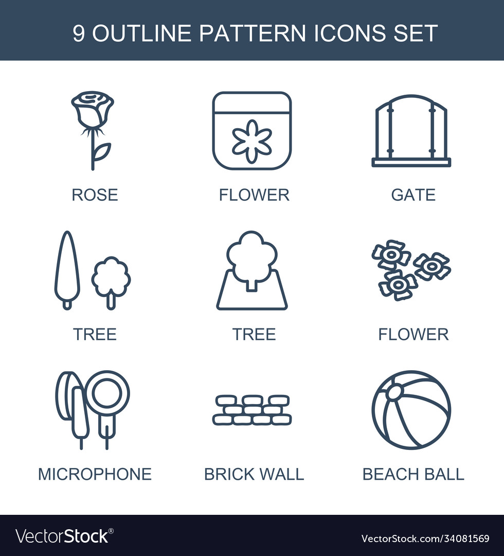 9 pattern icons