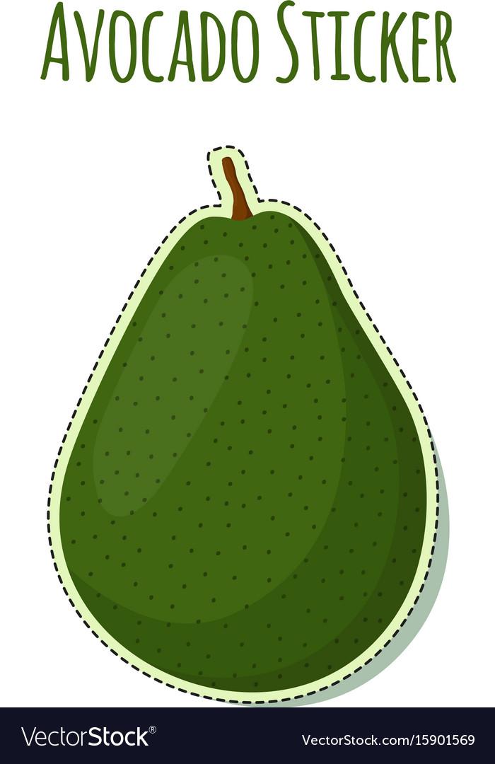 Avocado sticker logo tropical summer fruit label