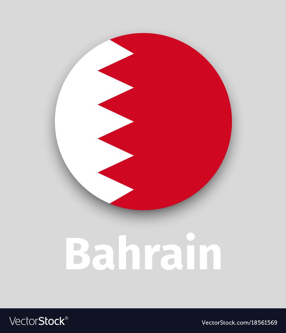 Bahrain flag round icon