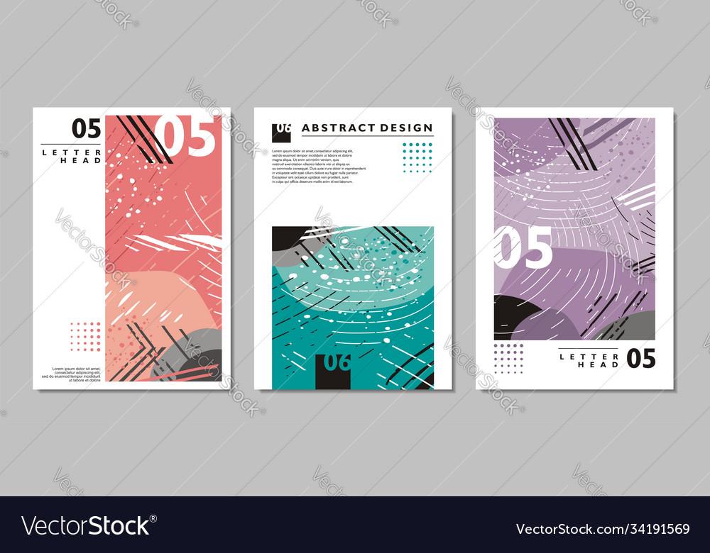 Brochure abstract design templates