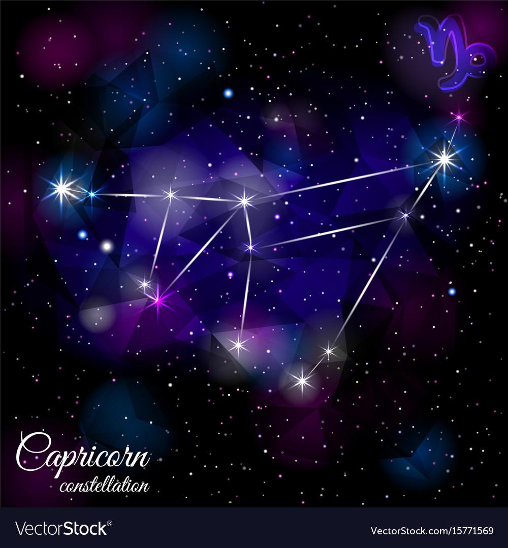 Capricorn constellation with triangular background