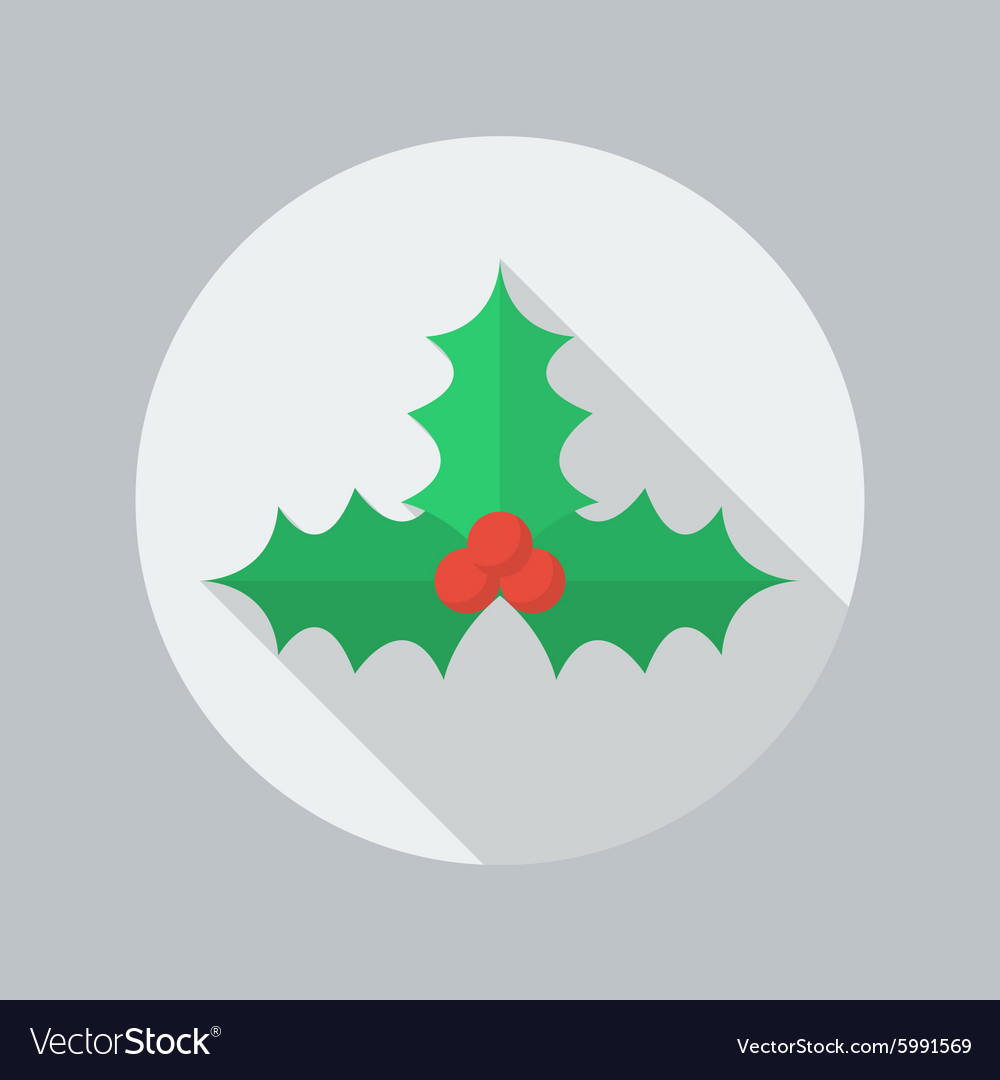 Christmas Flat Icon Holly berry