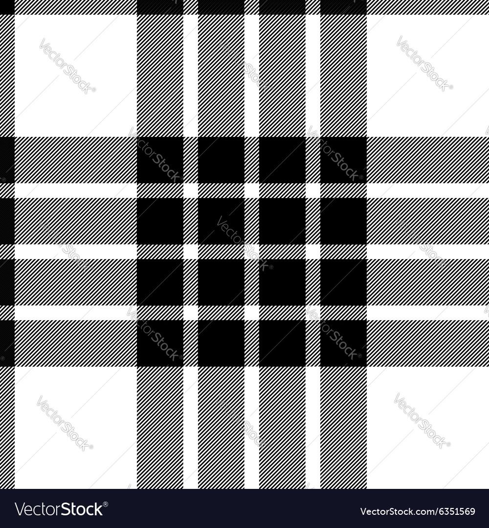 Clan cameron tartan seamless background black and vector image
