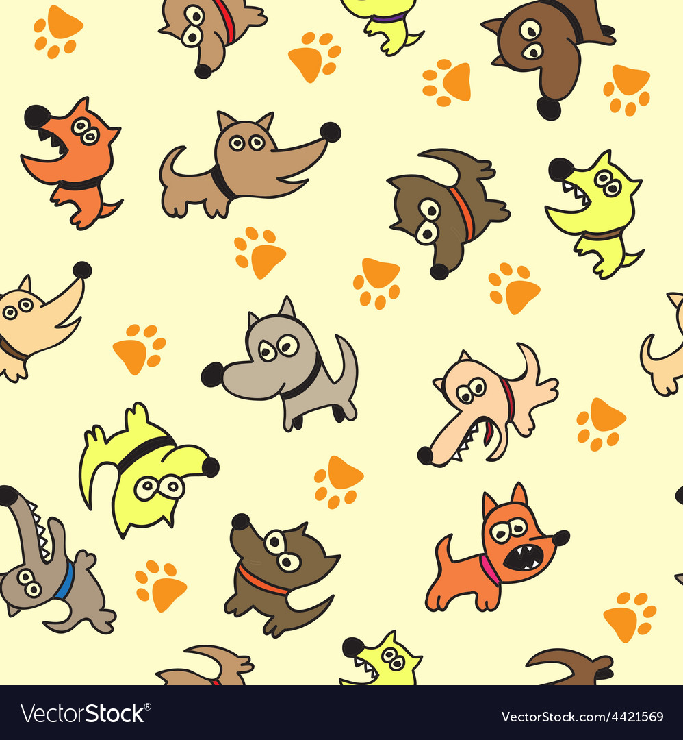 cute dog seamless background vector