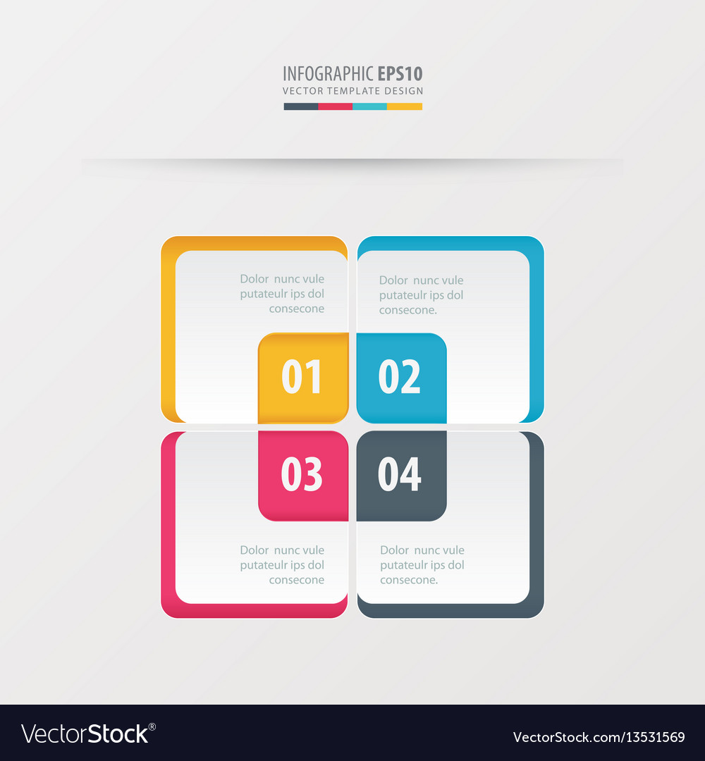 Rectangle presentation template yellow blue vector image
