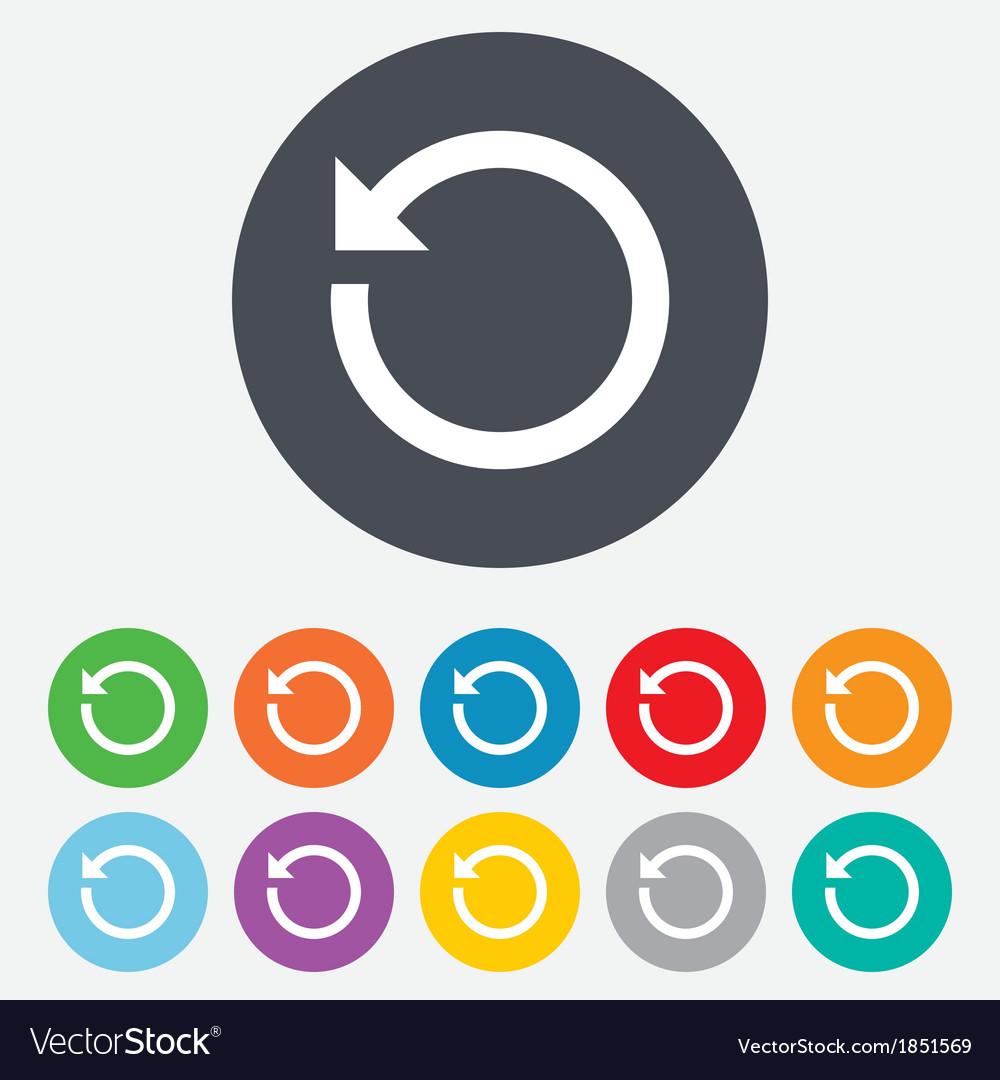 Repeat icon Refresh symbol Loop sign