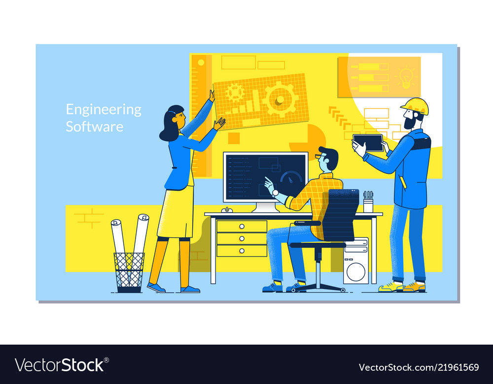 Software development and people concept