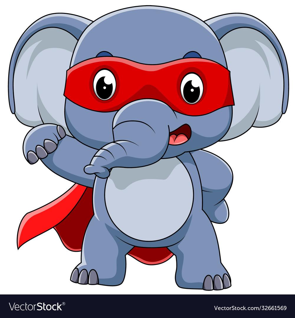 Super hero elephant cartoon