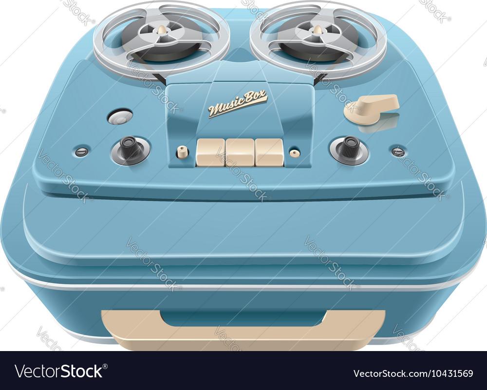 Vintage reel to reel audio tape recorder