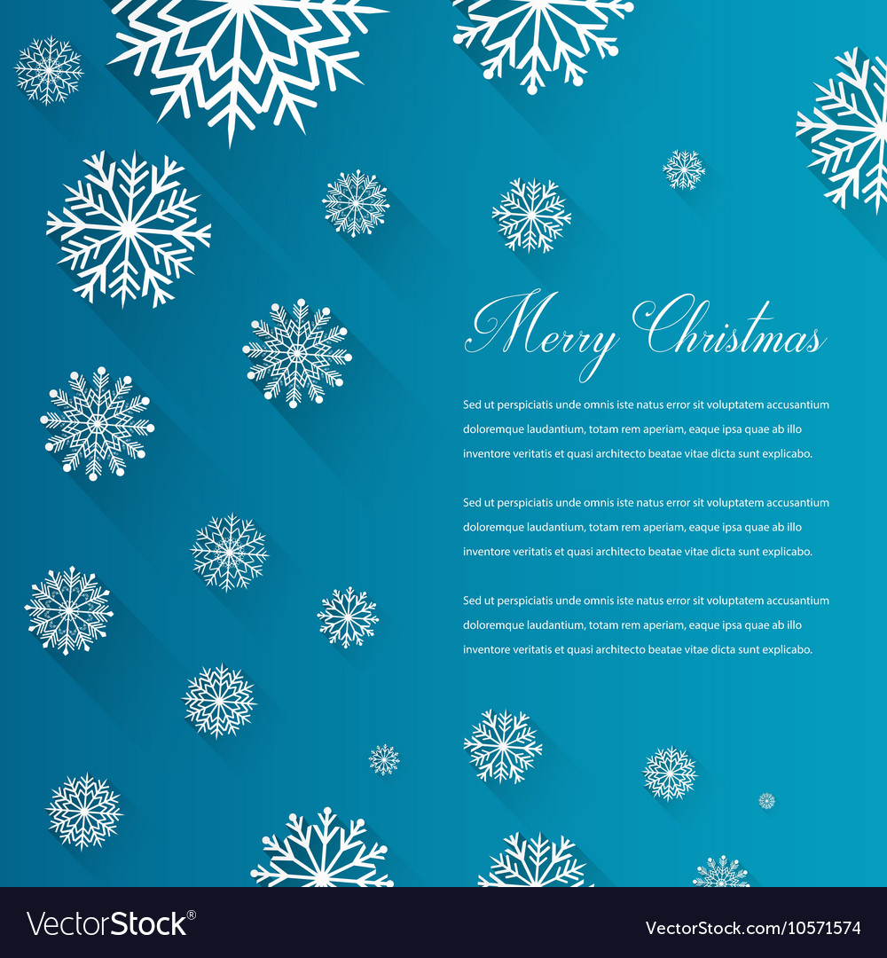 Abstract Christmas card with snowflakes and