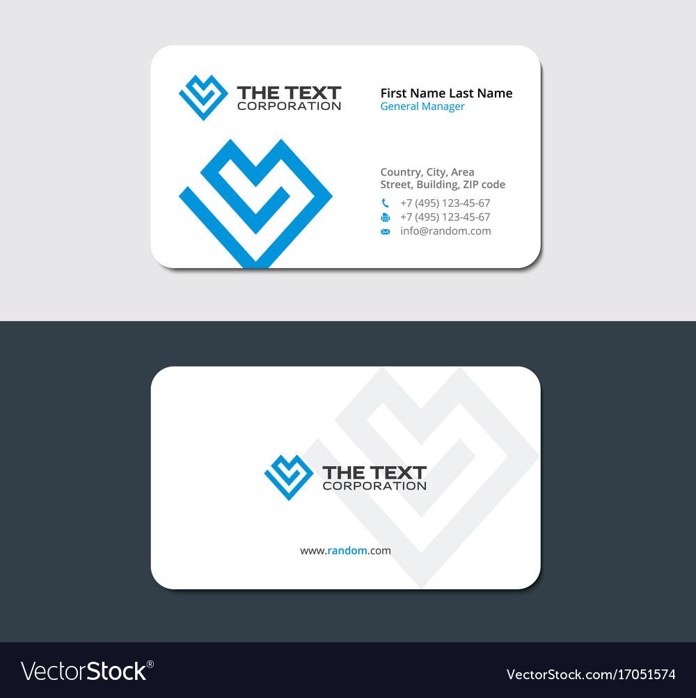 Business card for life insurance company vector image colourmoves
