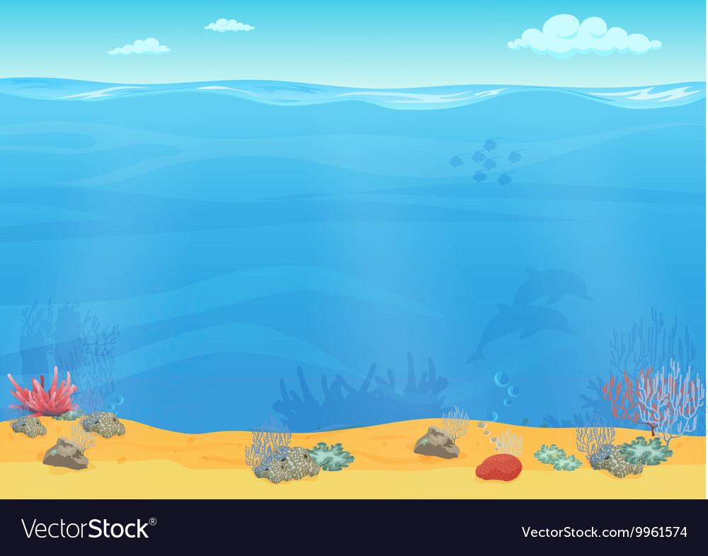 Cartoon sea background