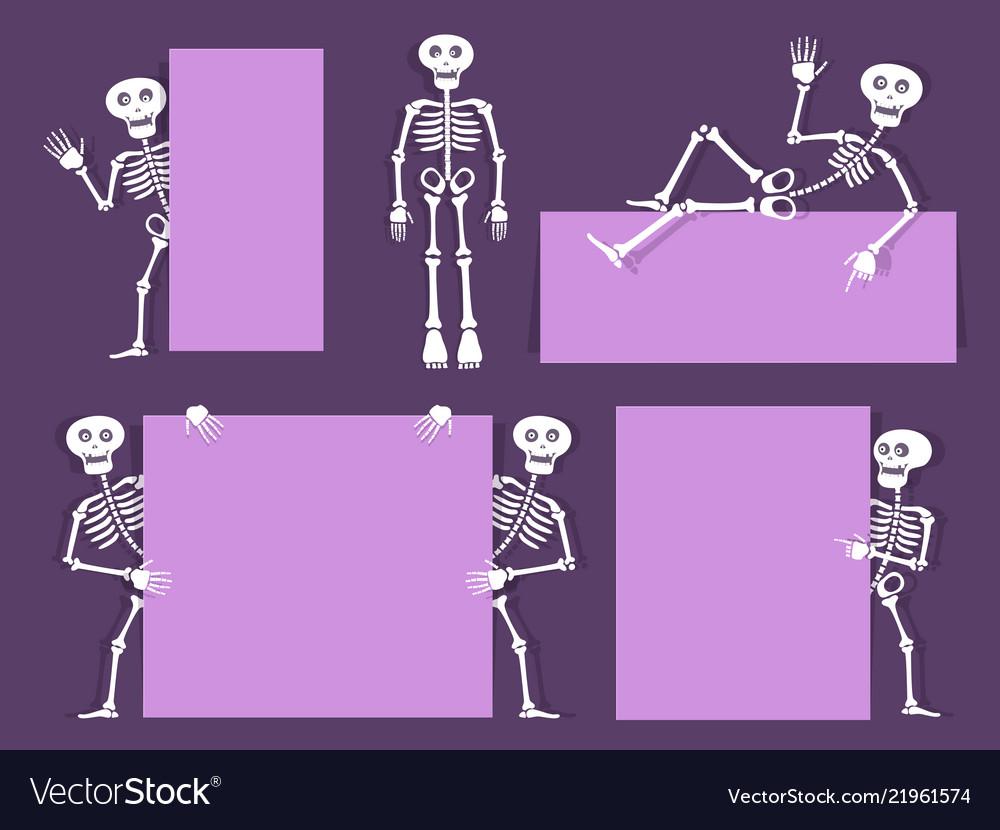 Cartoon skeleton bony character