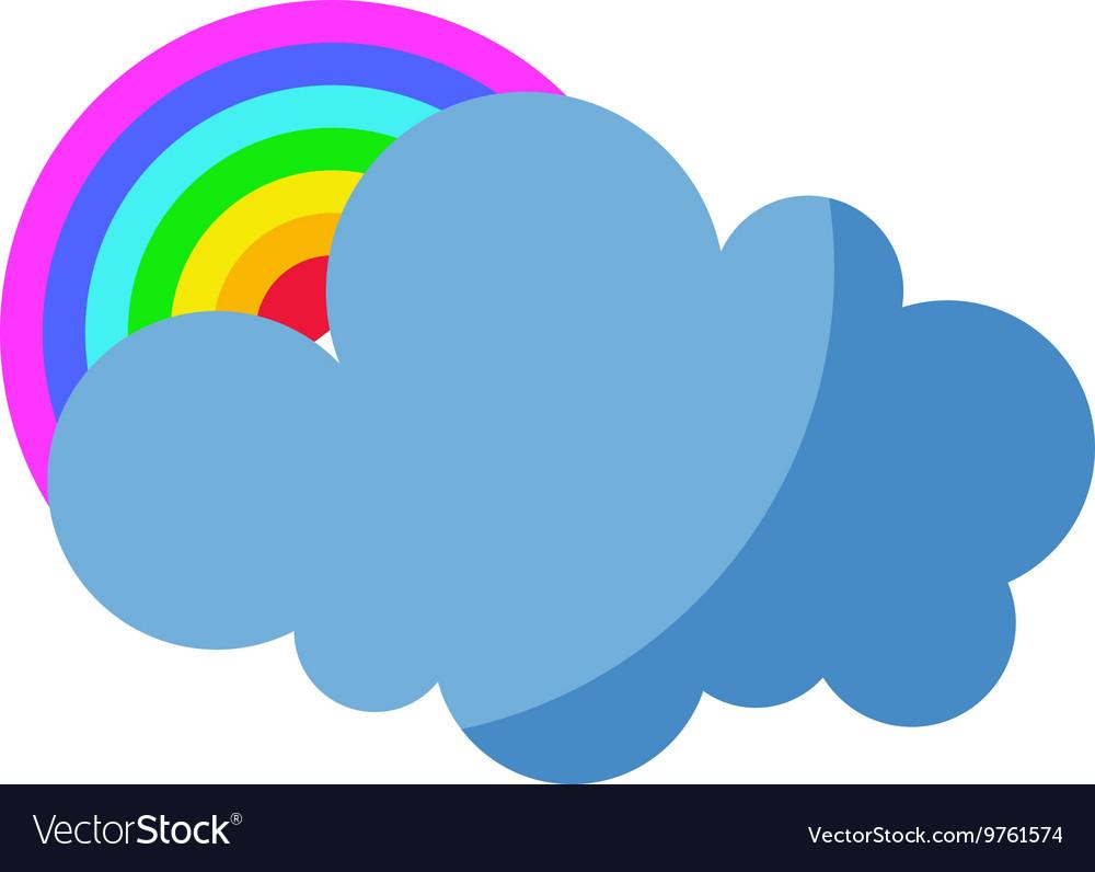 Cloud and rainbow
