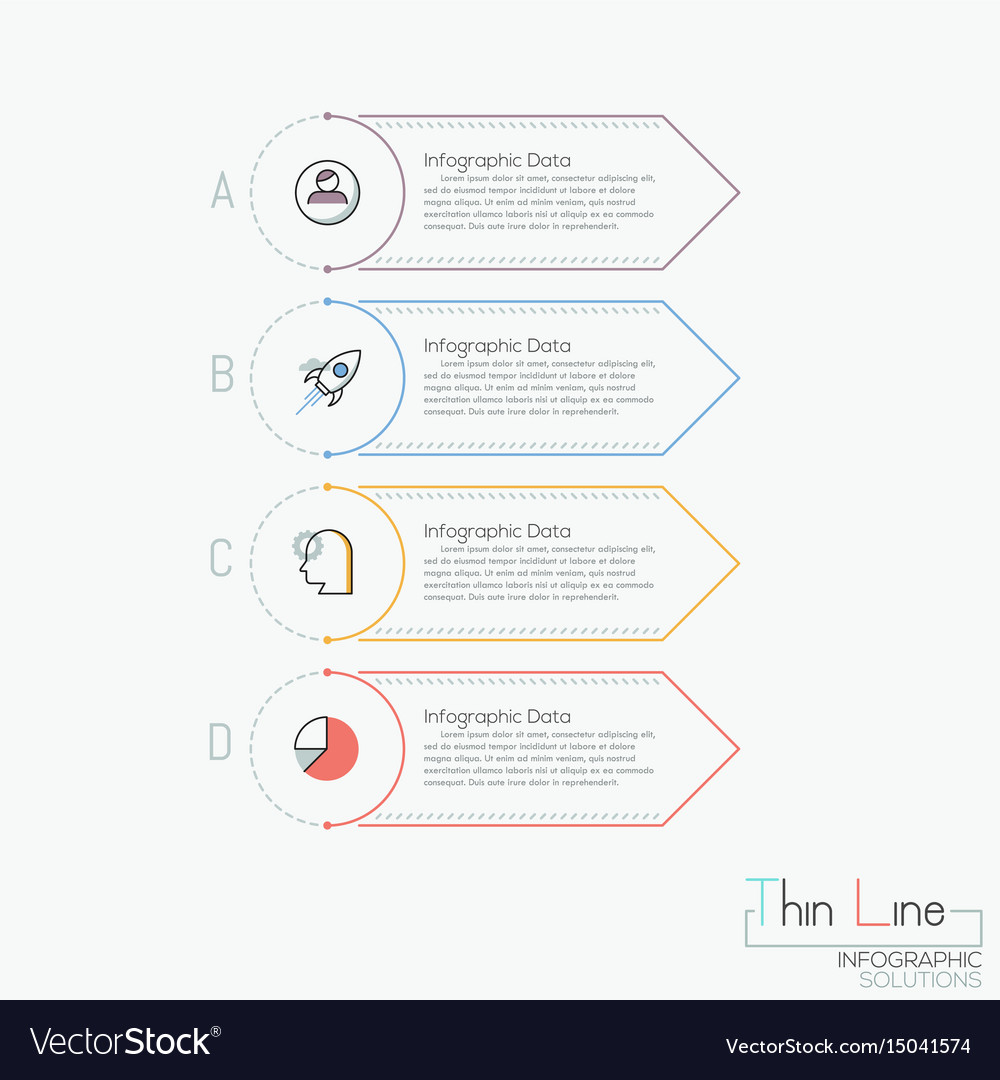 Creative infographic design template 4