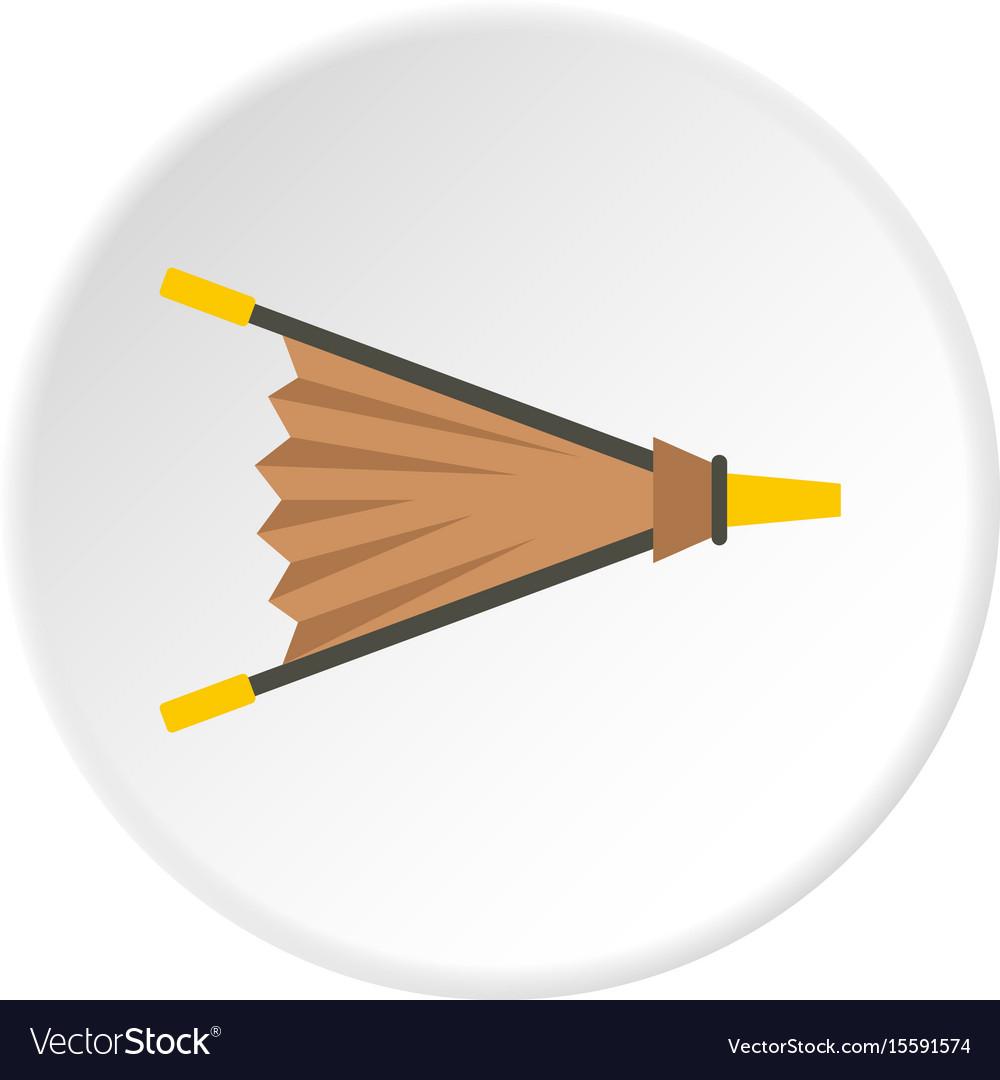 Fire bellows icon circle vector image