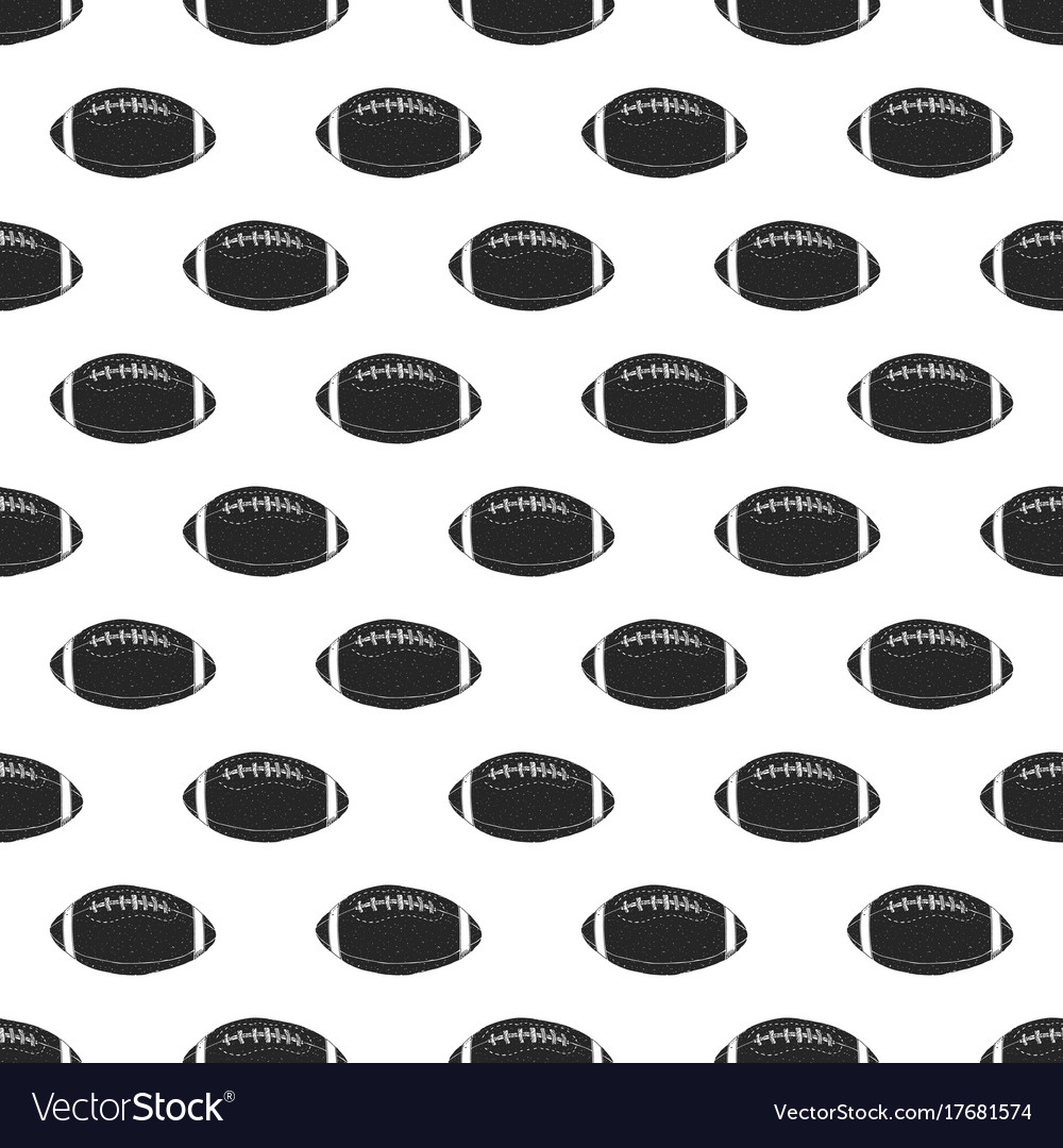 Football rugby ball seamless pattern hand drawn