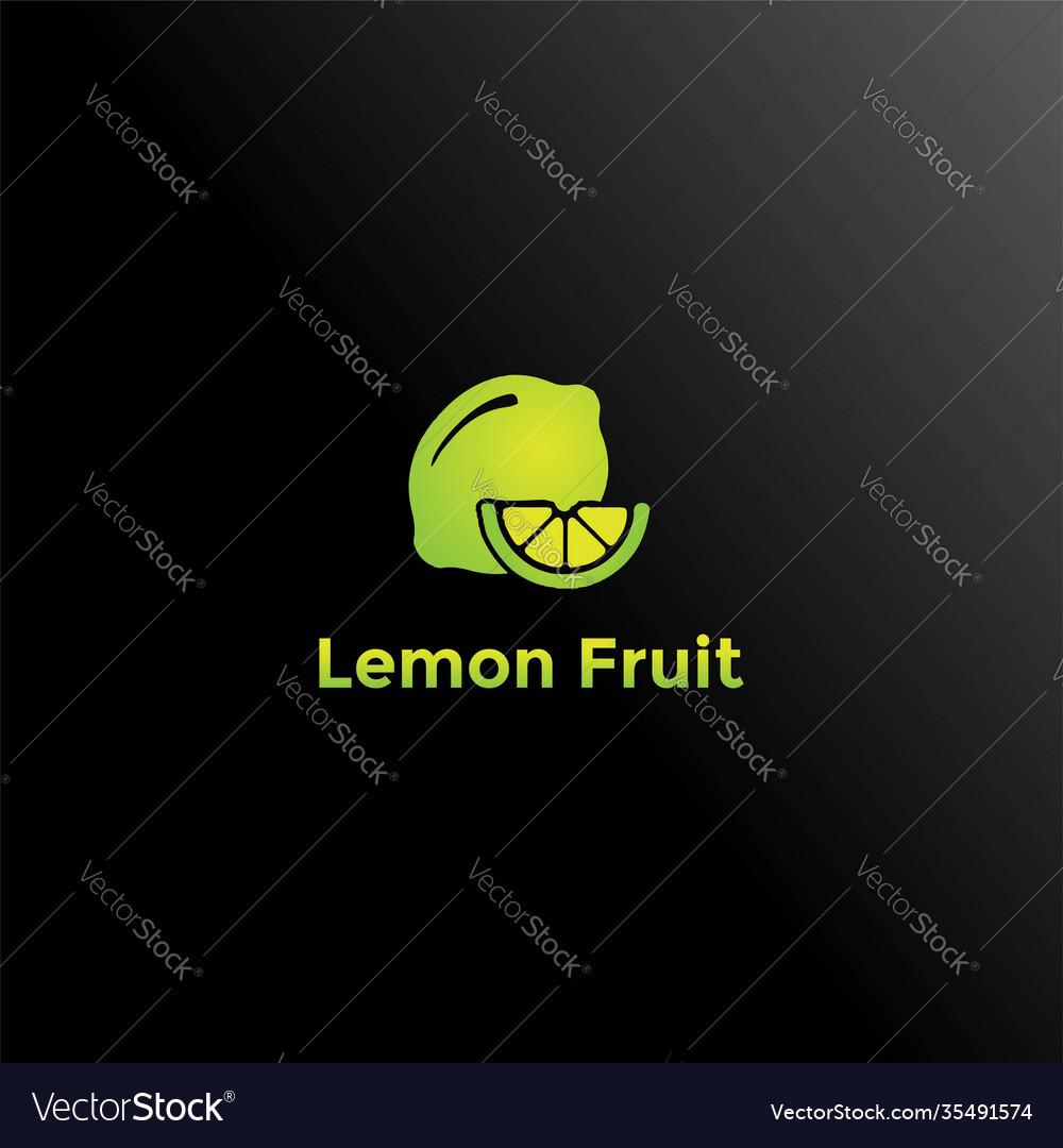 Fresh lemon lime orange fruit logo design