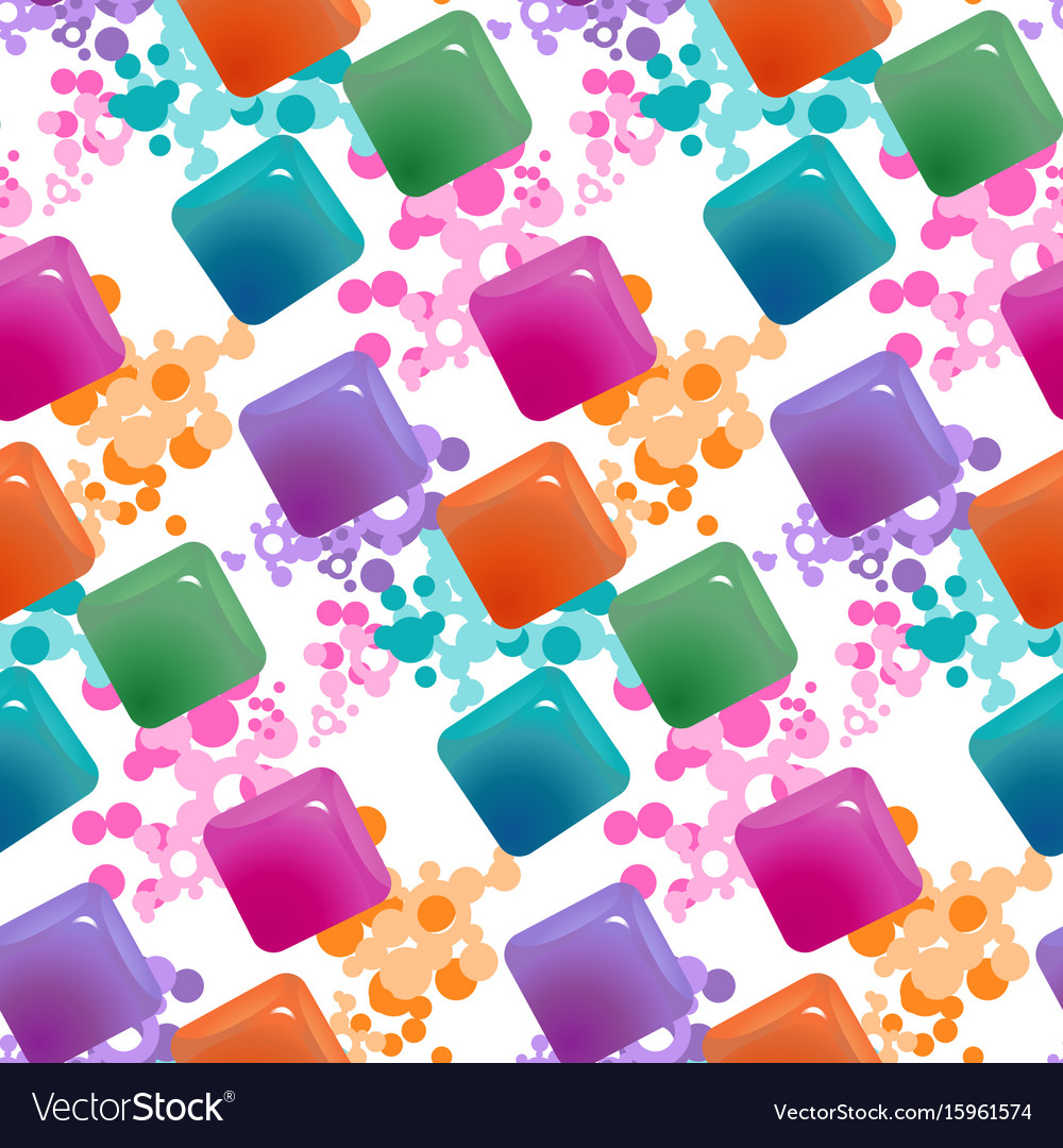 Gemstones abstract seamless pattern colorful