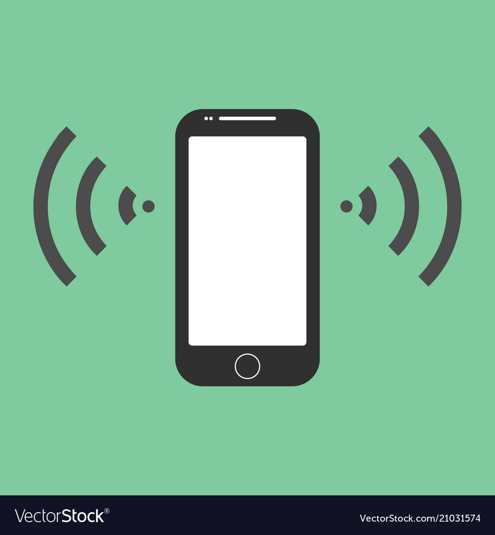 Mobile phone icon flat