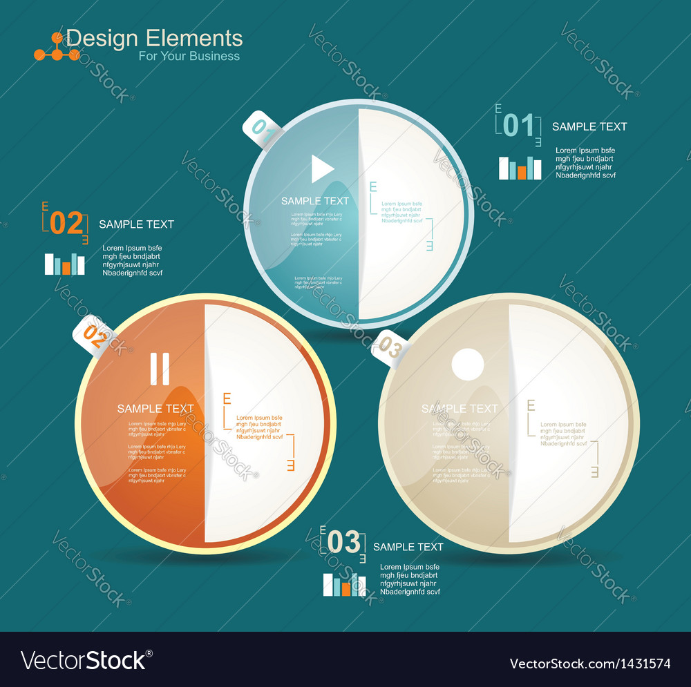 Modern business circle style options banner