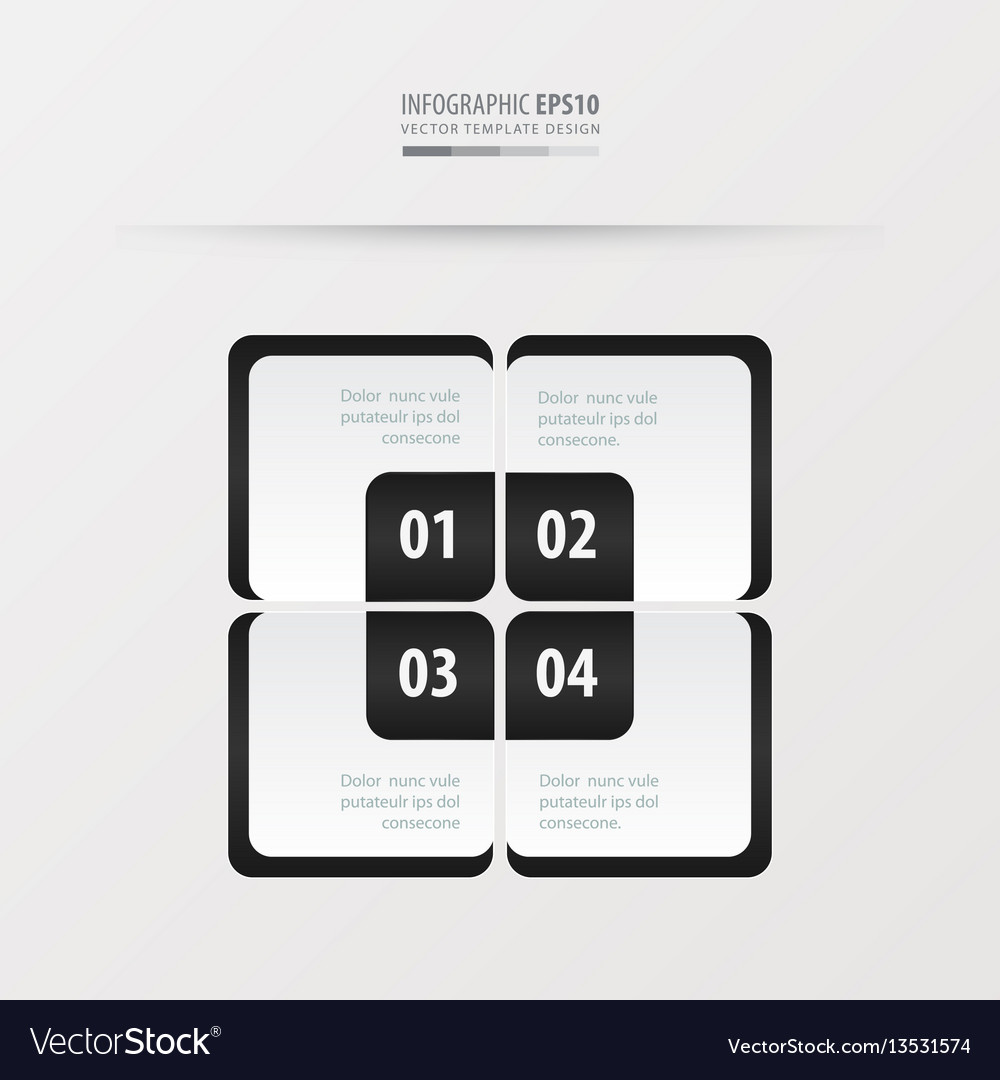 Rectangle presentation template black and white vector image