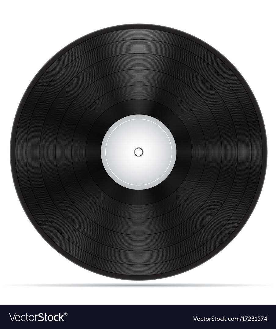 Retro vinyl disk stock