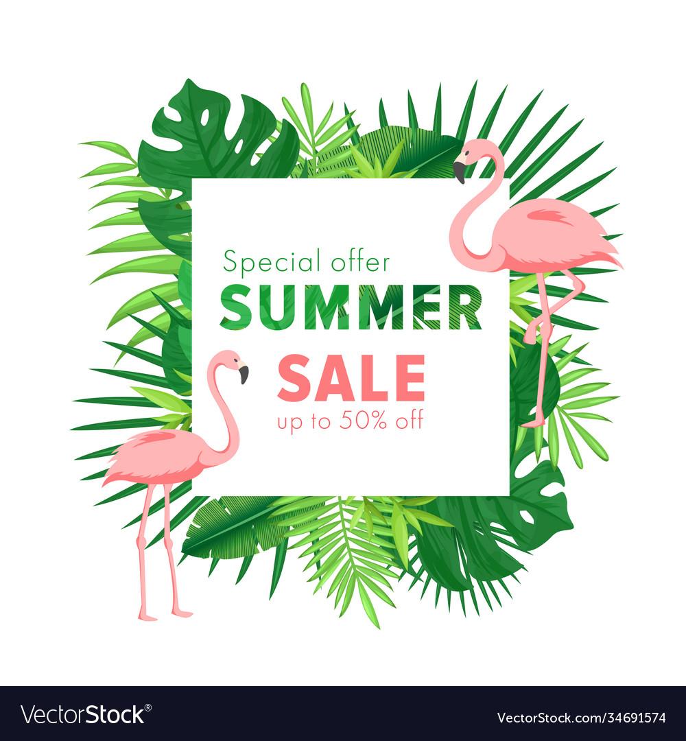 Summer sale cartoon flat