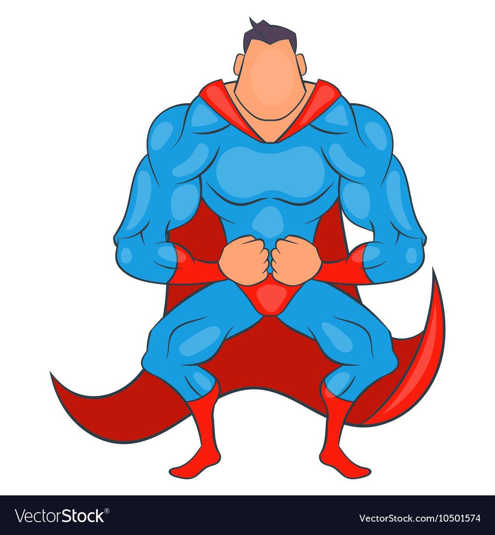 Super hero ready to fly icon cartoon style