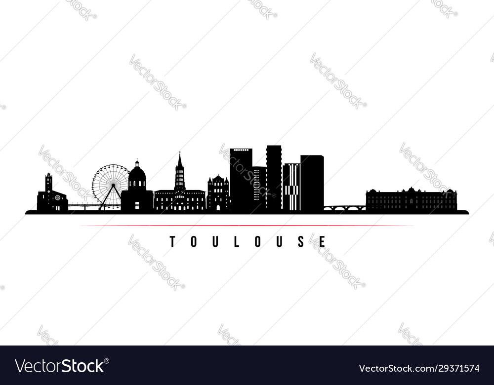 Toulouse skyline horizontal banner