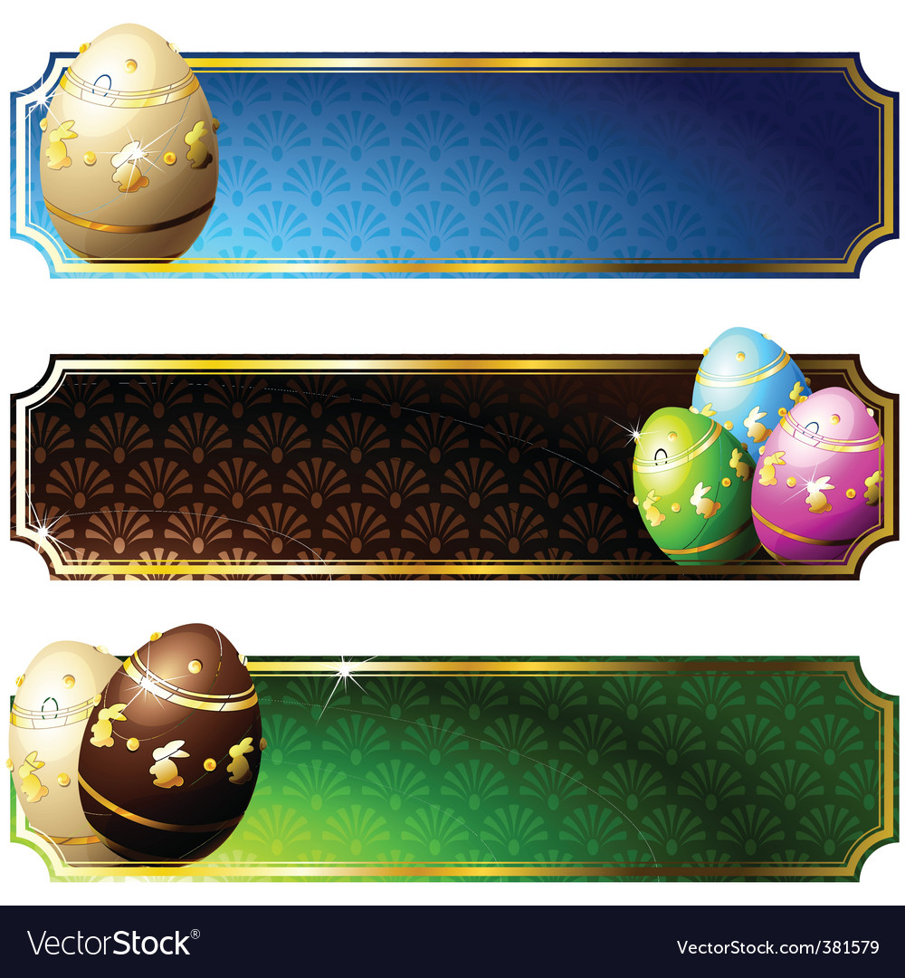 Banners with eggs