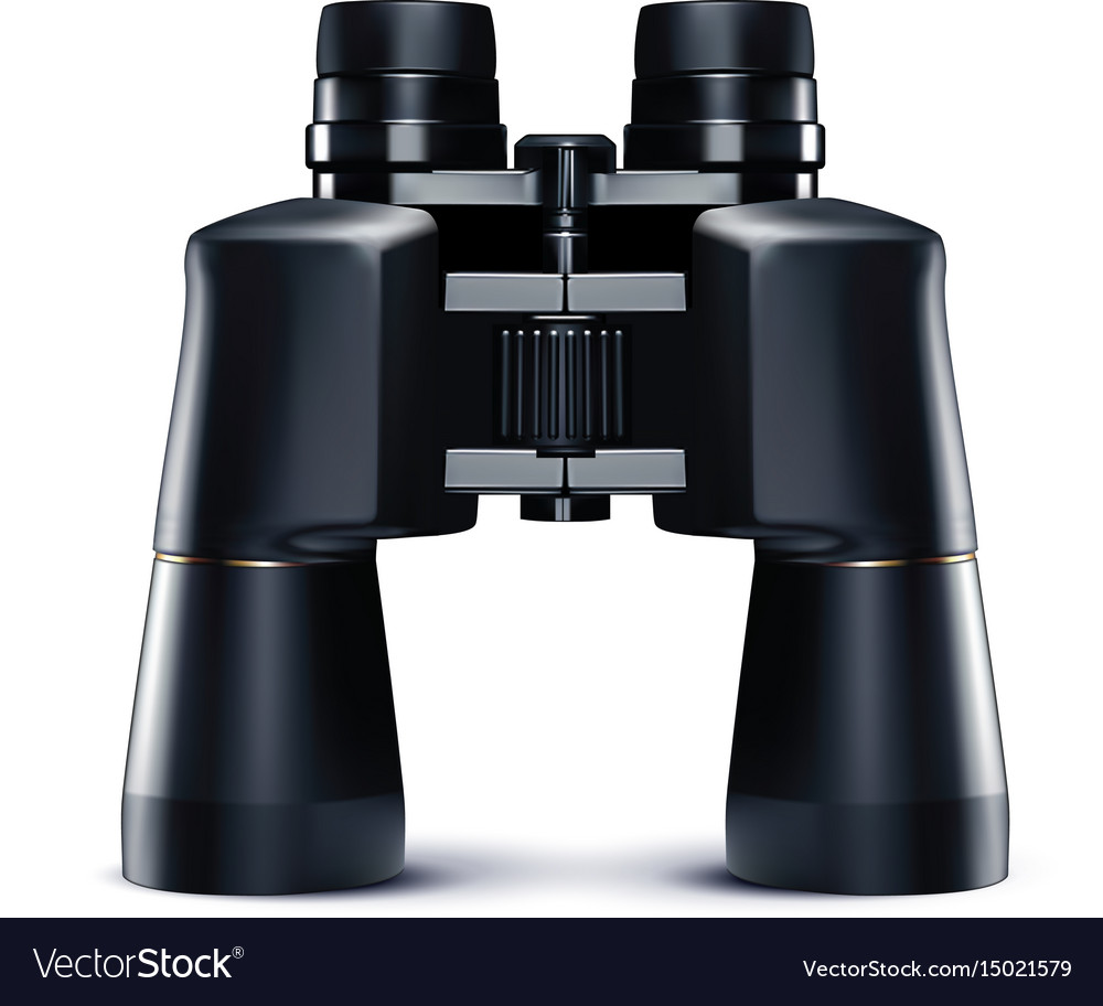 Binoculars isolated on white 3d vector image