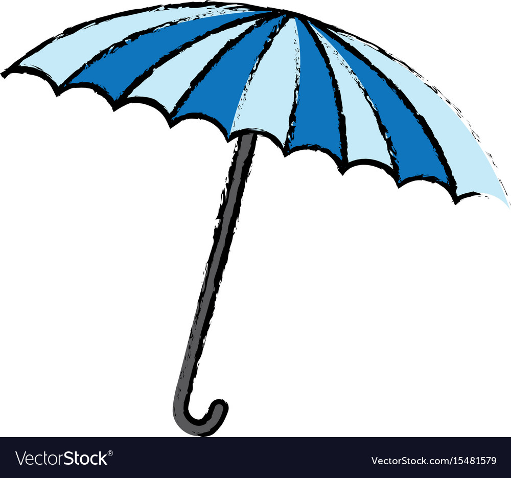 Blue and white umbrella circus equipment