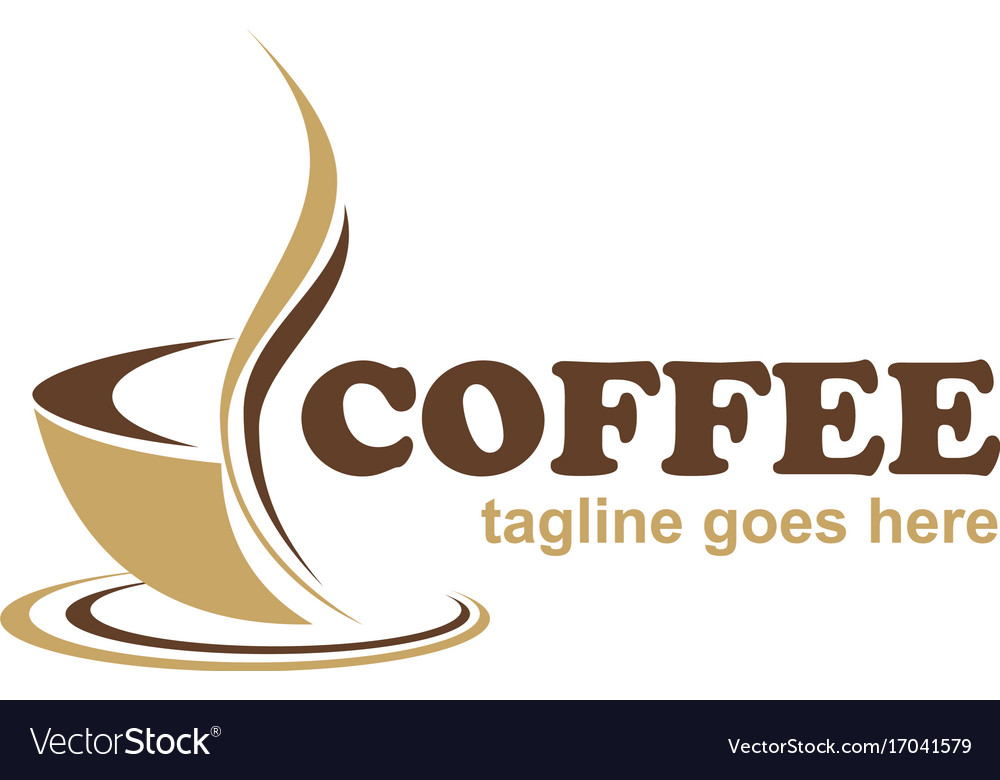 coffee cafe business logo royalty free vector image
