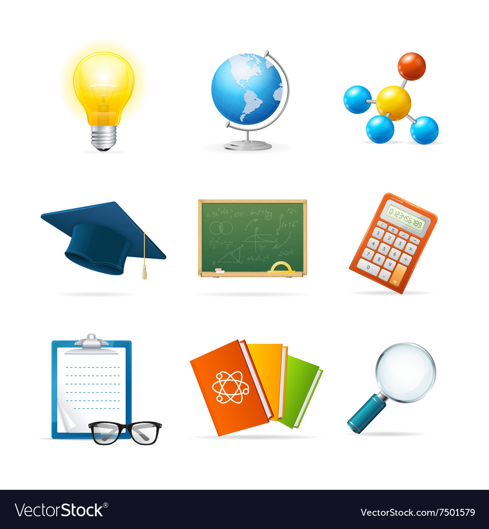 Colorful Science Icon Set
