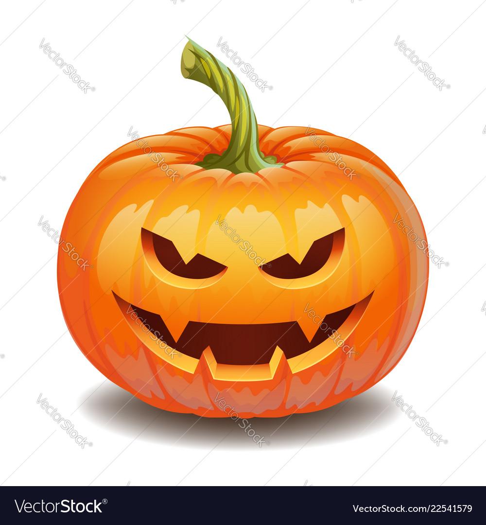 Halloween Pumpkin Face Evil Smile Jack O Lantern