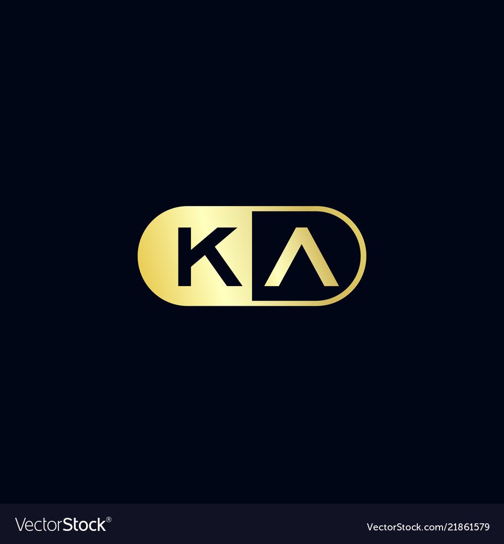 Initial letter ka logo template design