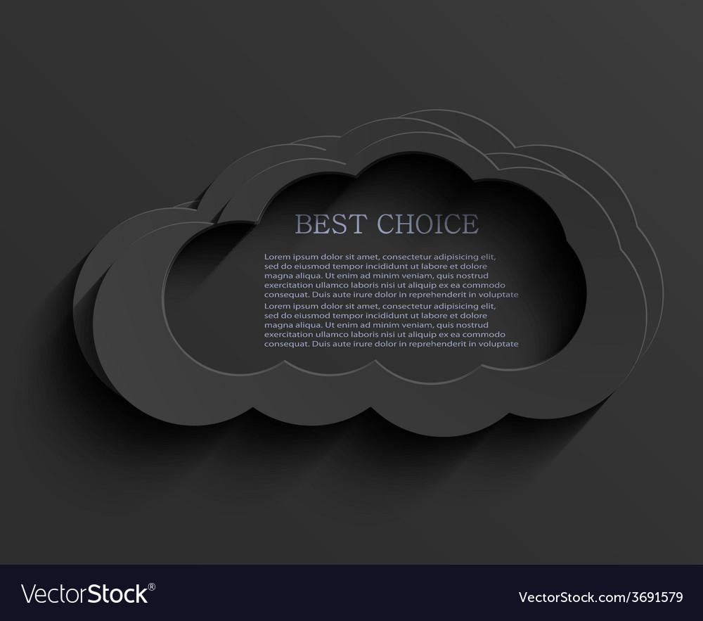 Modern dark cloud background