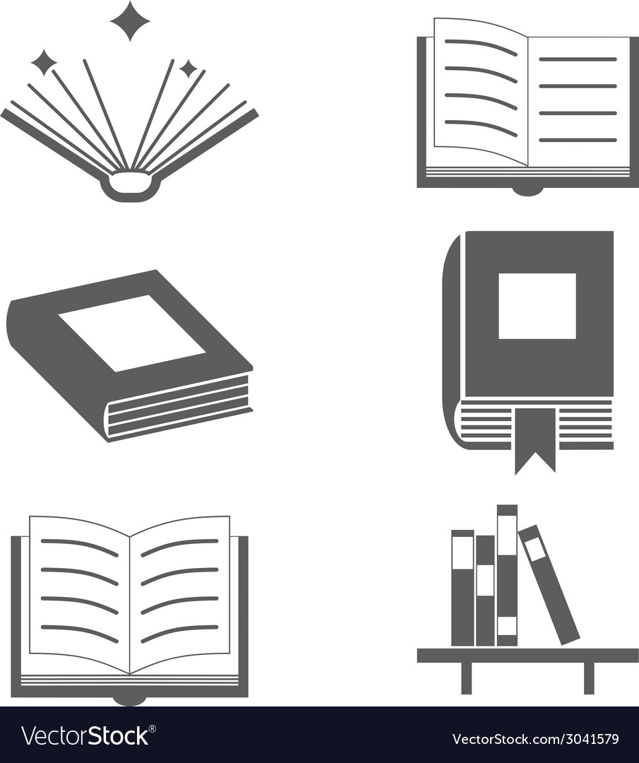reading books signs and symbols icons template on vector image
