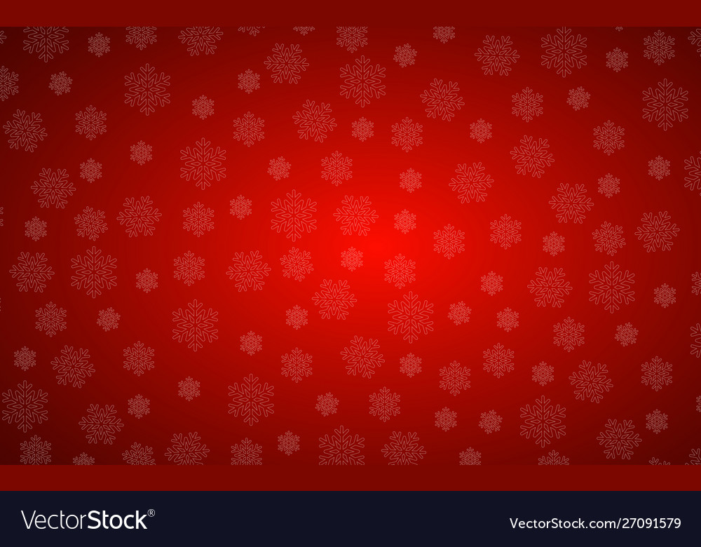 Red christmas background with snowflakes simple