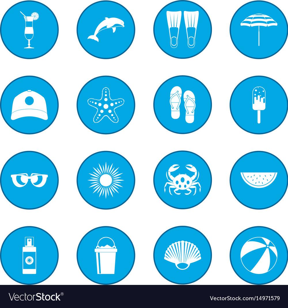 Summer icon blue