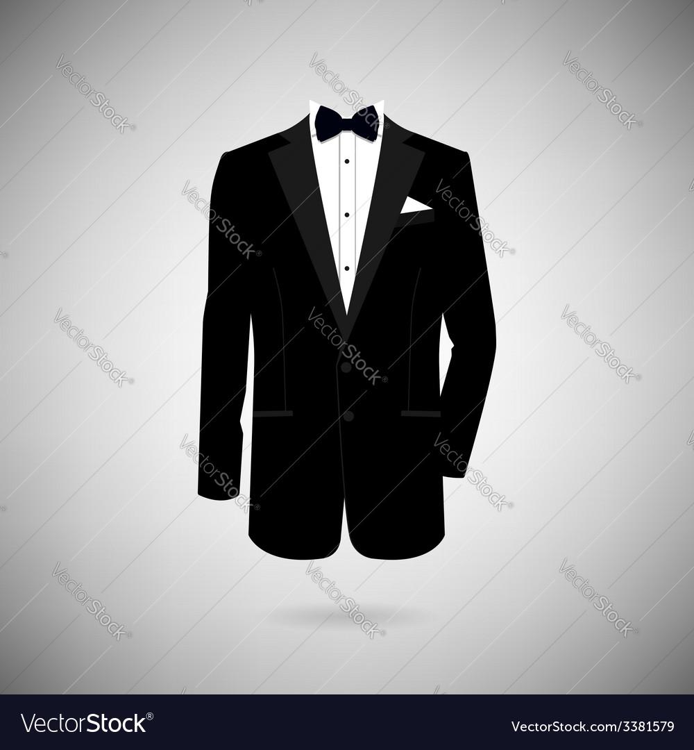Tuxedo icon vector image