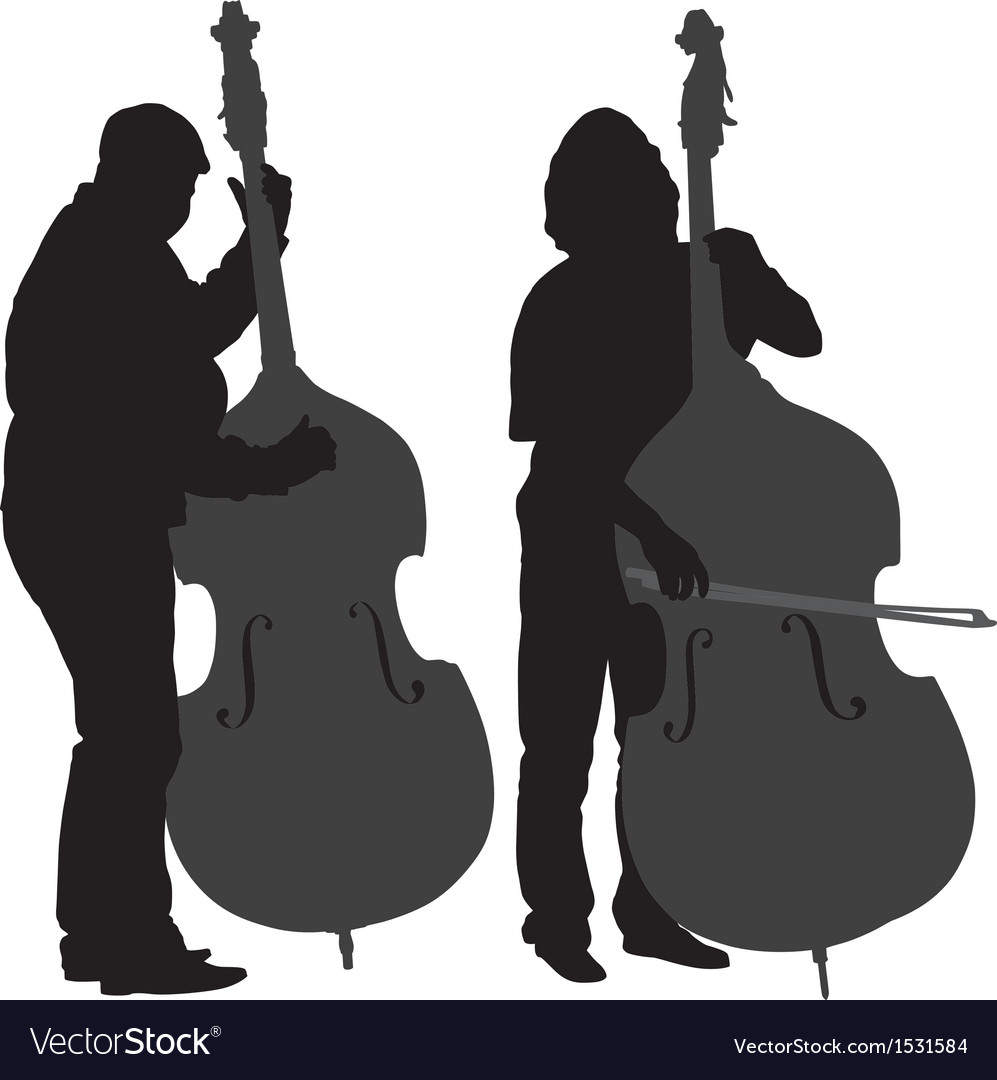 Bass Player Silhouette