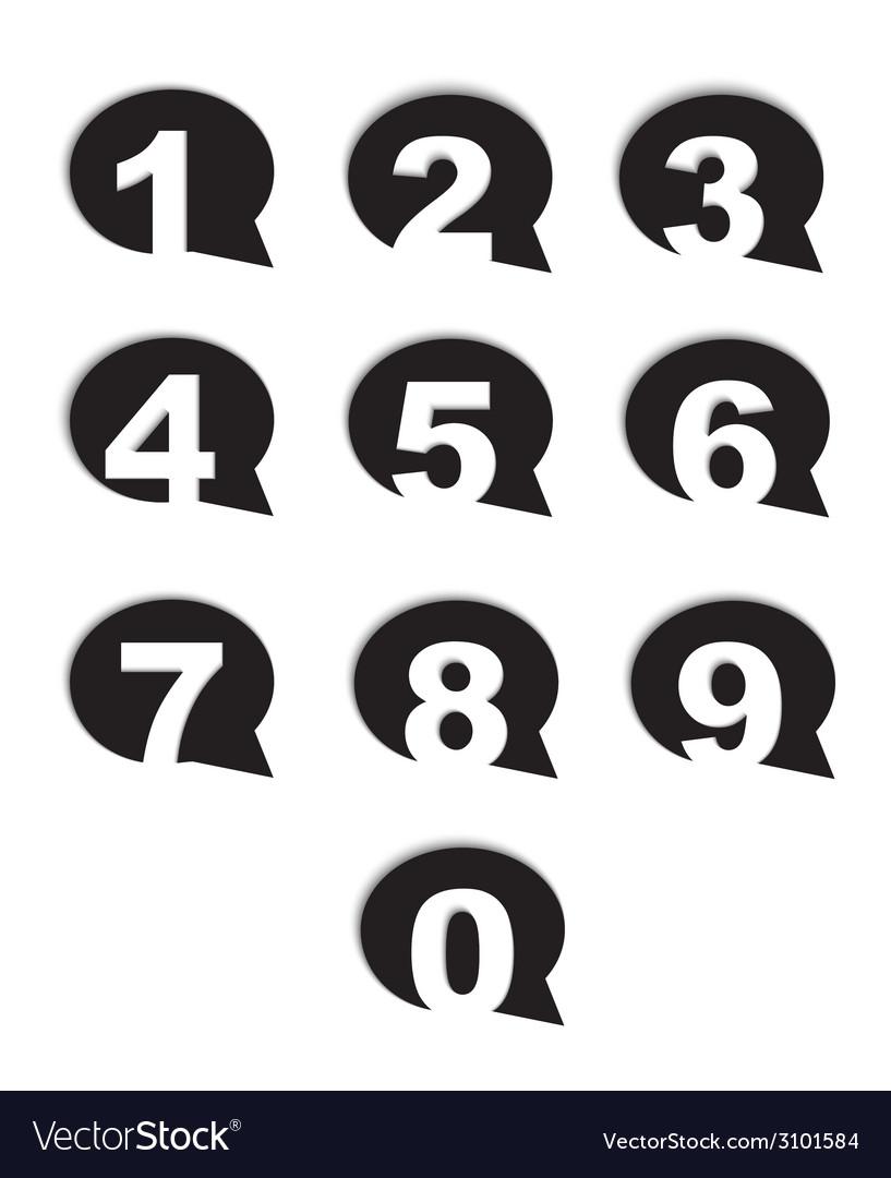 Bubble conversation numbers icons set