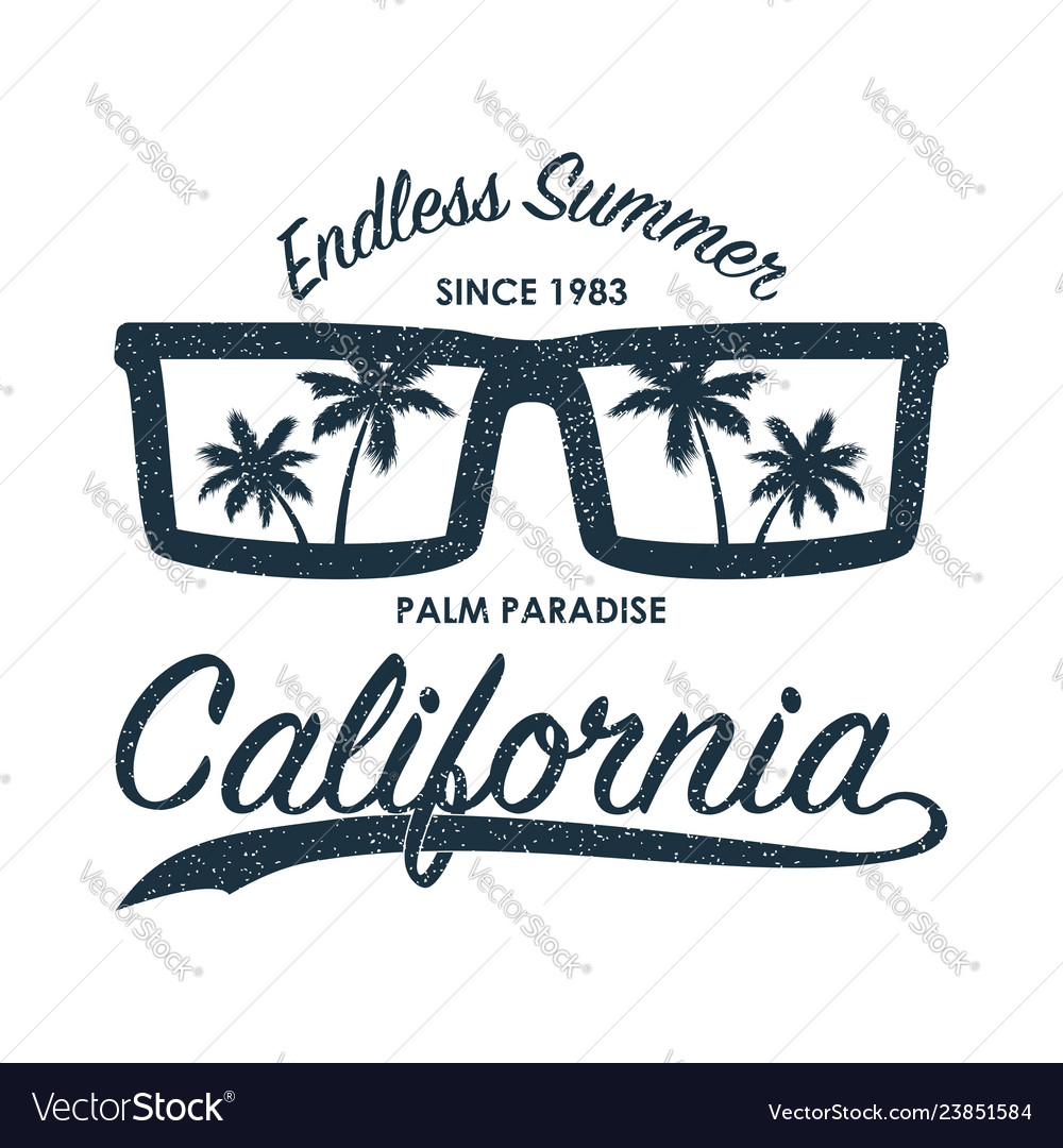 California glasses t-shirt