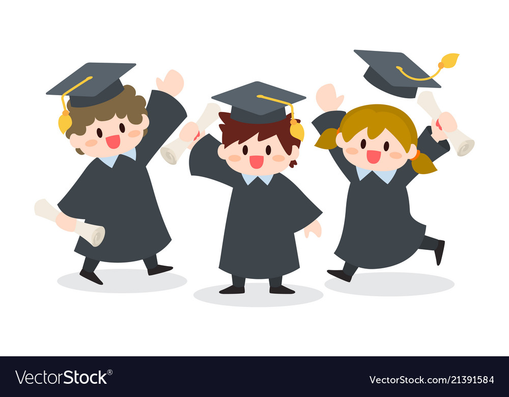 f5e9ee5ab4 Children graduation ceremony Royalty Free Vector Image
